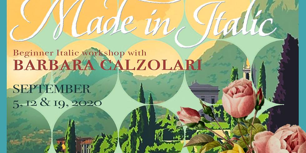 Made in Italic - With Masterpenwoman Barbara Calzolari