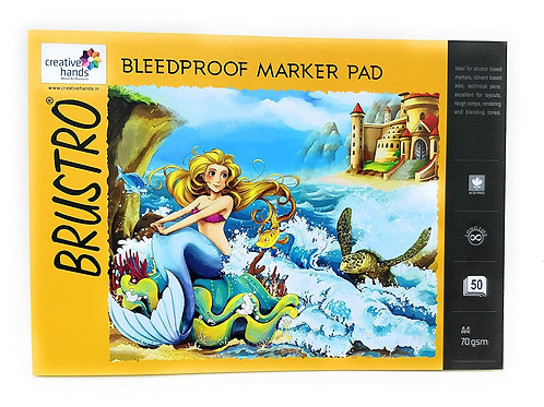 Brustro Bleedproof Marker Pad 70 GSM A4 ( Contains 20 Sheets )