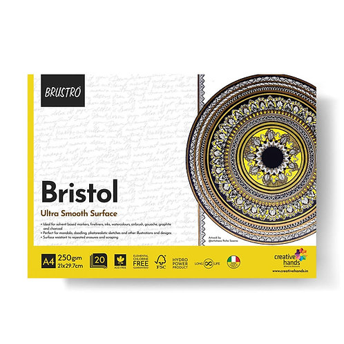 Brustro Bristol Ultra Smooth A4 Glued Pad