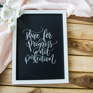 Quote in a frame - The Bombay Lettering Company