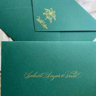 Wedding Invite - The Bombay Lettering Company