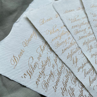 Handwritten letters - The Bombay Lettering Company