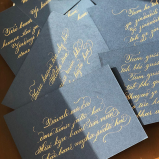 Hand Written Notes - The Bombay Lettering Company