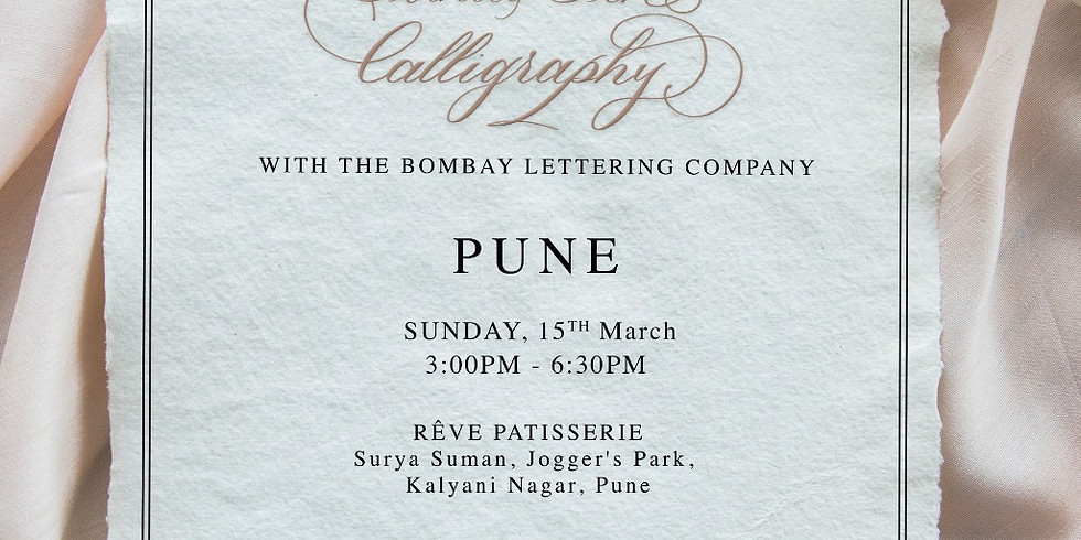 Introduction to Pointed Pen Calligraphy - PUNE