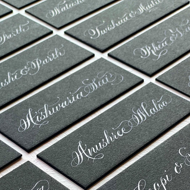 Name Tags - The Bombay Lettering Company