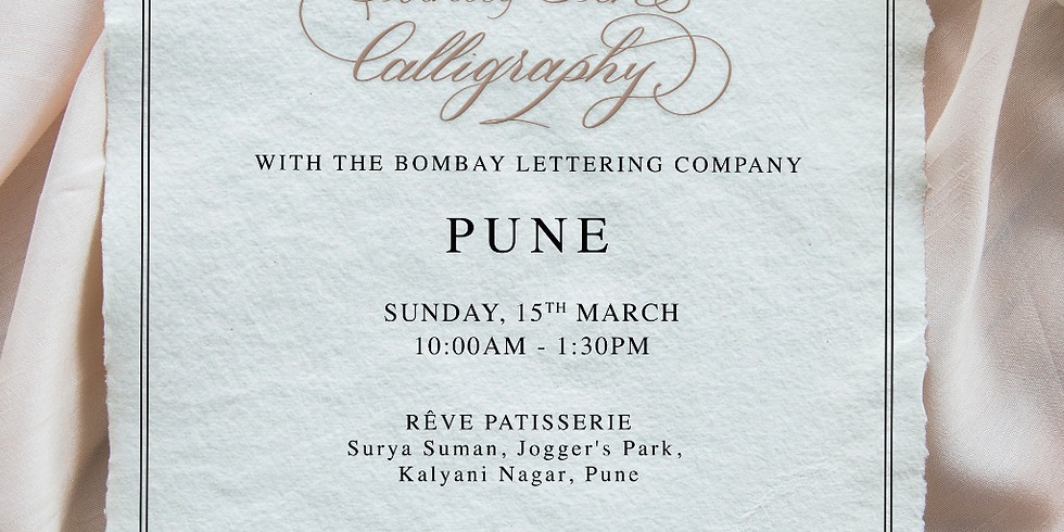 Introduction to Pointed Pen Calligraphy - PUNE 2