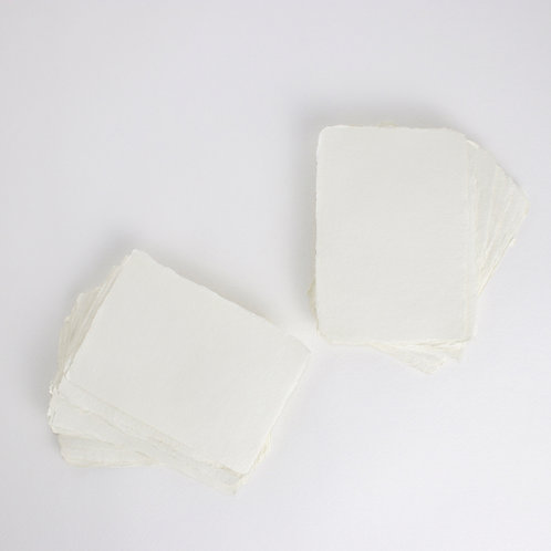 Ivory Handmade Deckle Edged A6 Paper - Pack of 5