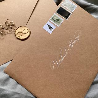 Envelope Addressing  of Invite- The Bombay Lettering Company