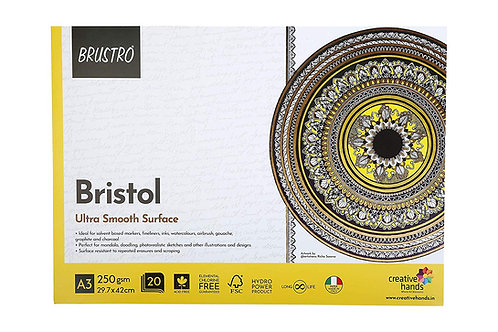 Brustro Bristol Ultra Smooth A3 Glued Pad