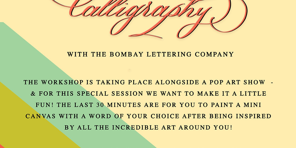 Intro to Pointed Pen Calligraphy Delhi 12th Oct.