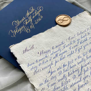 Hand Written Letter - The Bombay Lettering Company
