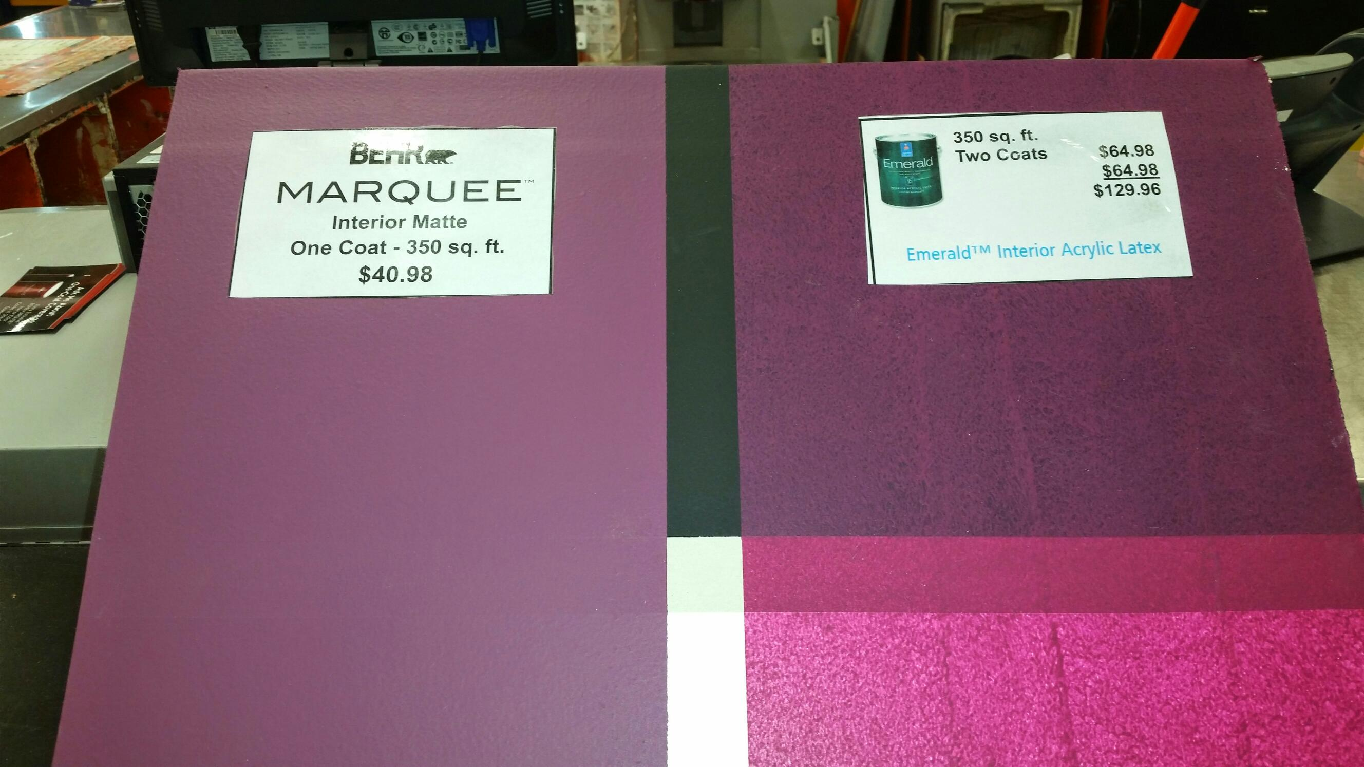 Testing behr marquee vs sherwin williams emerald - Behr vs sherwin williams interior paint ...