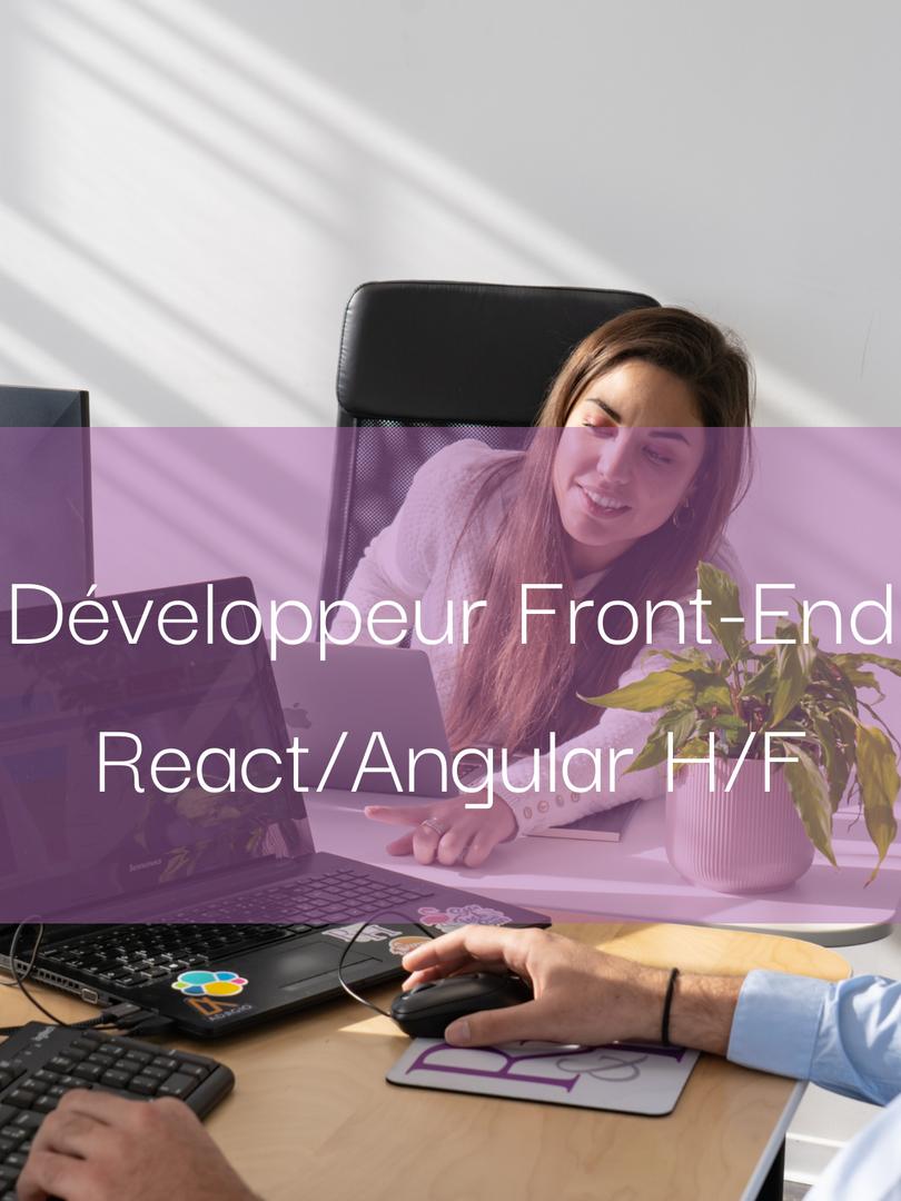 Développeur Front-End React/Angular H/F