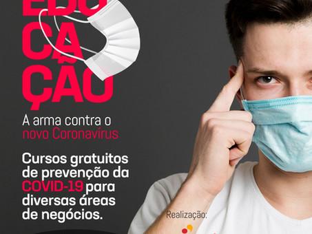 Cursos gratuitos de prevenção COVID-19