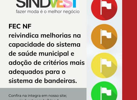 FEC NF reivindica melhorias na saúde municipal e adoção de critérios mais adequados para bandeiras.