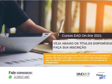 Cursos 2021 EAD Firjan SENAI gratuitos para Associados ao Sindvest