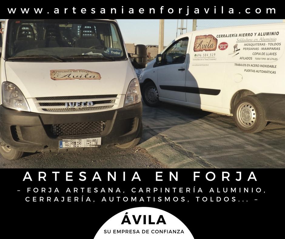 forja, carpintería aluminio en Cáceres