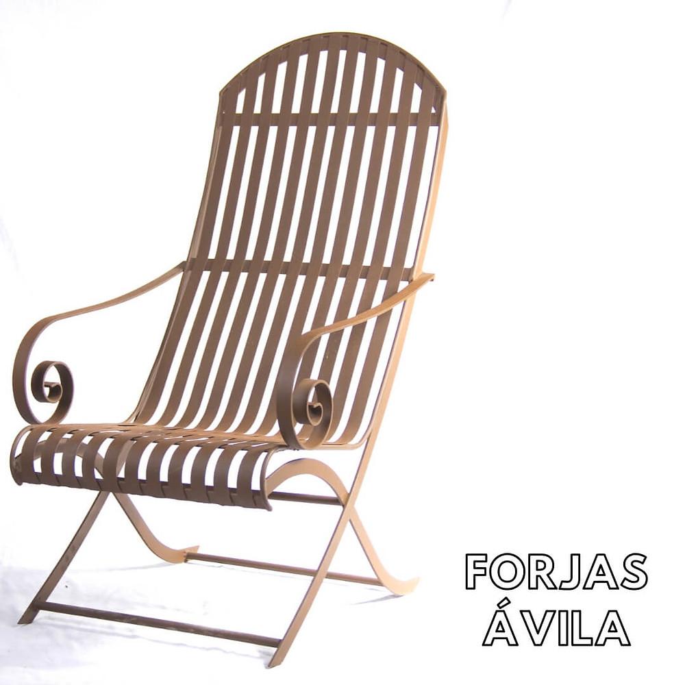 sillas para jardín en forja