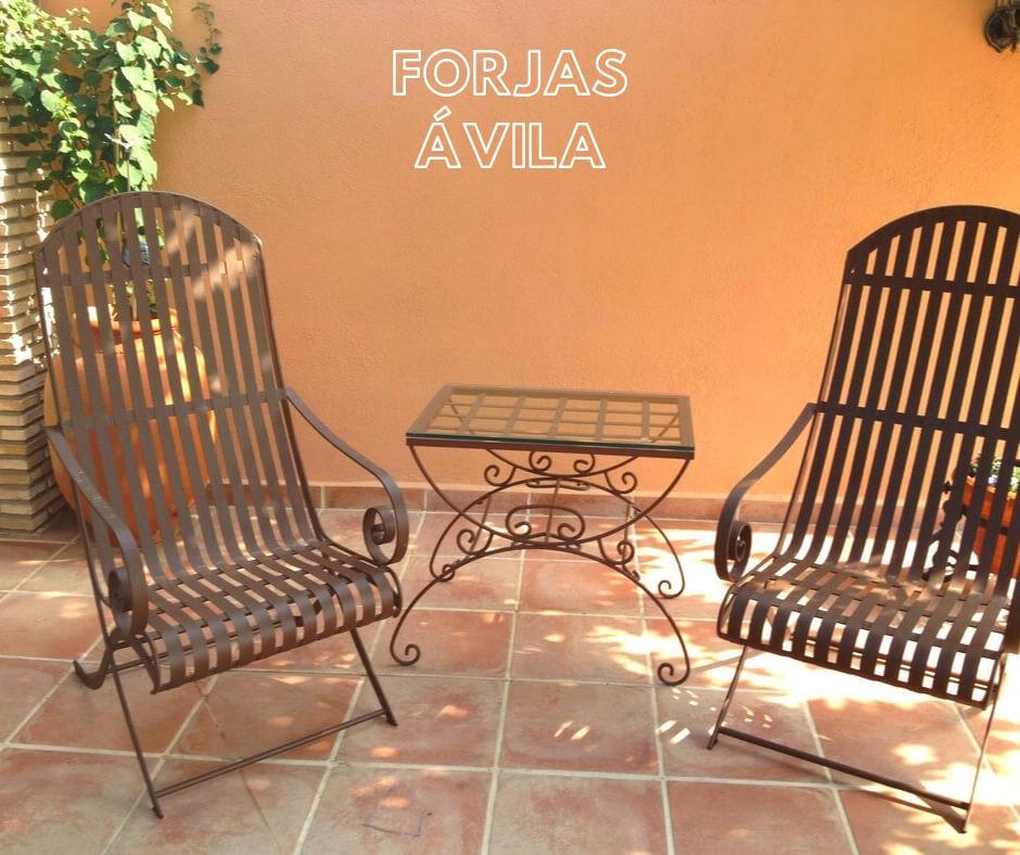 sillas y mesas en forja navalmoral