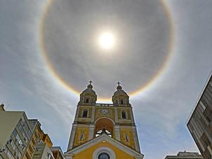 O Halo Solar e a Catedral de Florianópolis