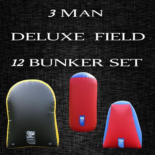 3 MAN - DELUXE FIELD : 12 Bunker Set
