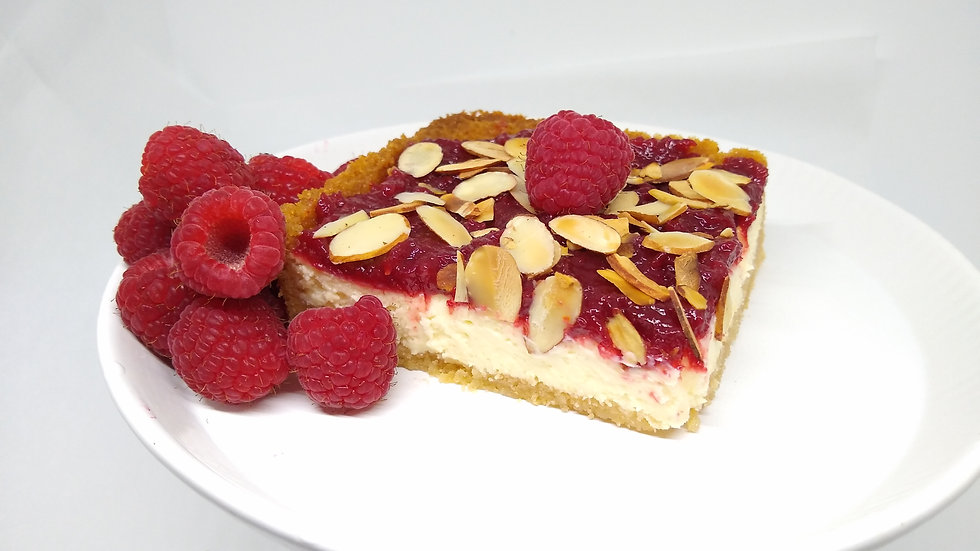 KETO Raspberry_Almond cheese cake