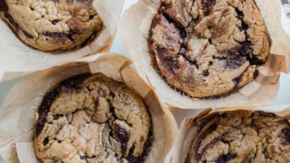 KETO Peanut Butter Stuffed Muffins