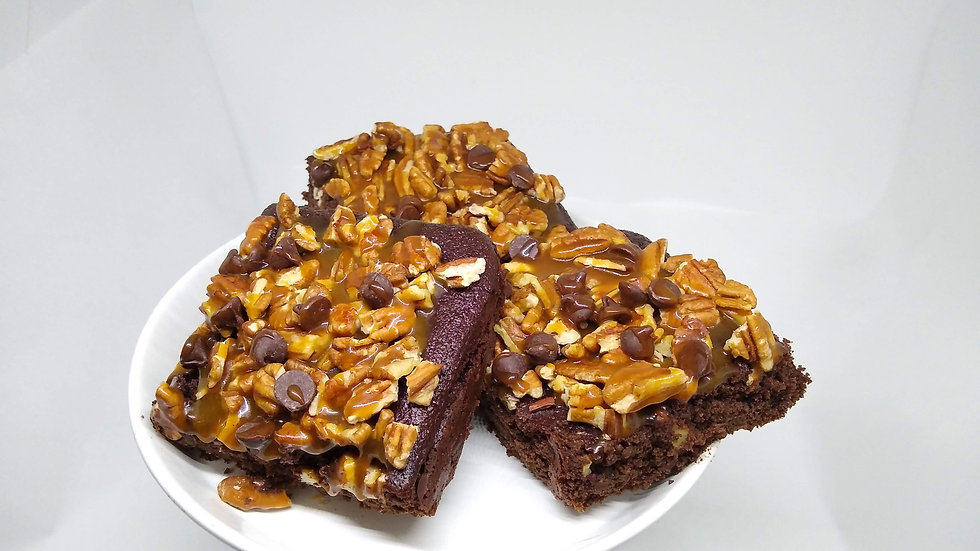 KETO Turtle Brownies, Caramel Brownies
