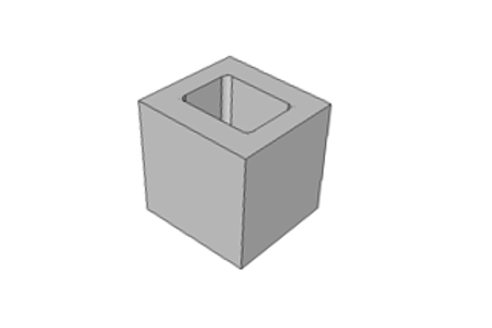 Meio Bloco 19 cm - 6,0 MPa
