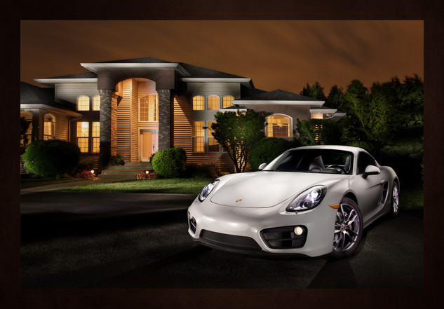 Commercial photography, Light painting, Cars, Porsche