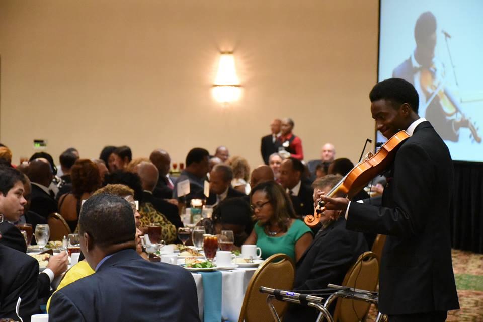 Banquet room shot 9, violinist