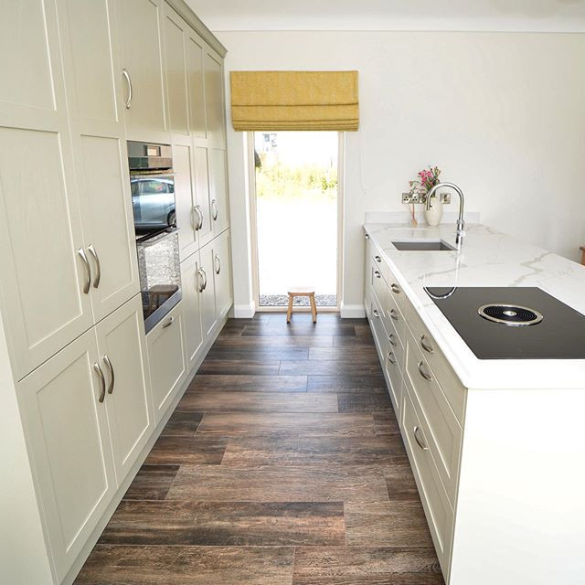 Galley Kitchen with a contemporary style