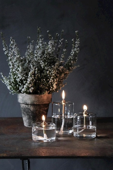 LA LAMPE A HUILE CYLINDRE