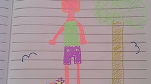 One girl's drawing of an ungendered child.