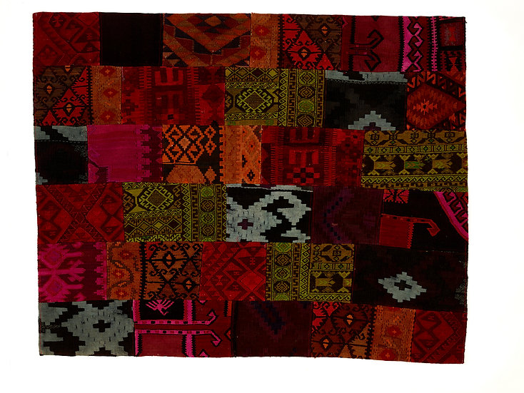 Vintage Refreshed Patchwork Kelim