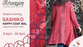 DUTCH Sashiko Happy Coat MAL Prep 1: draadspanning, blokken en oefenen met borduren