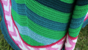 The skirt of Chevron Rainbows!