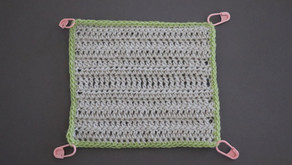 Crochet Techniques #2: Dc edging and secret sew finish.