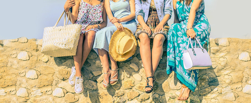 group of woman sitting together