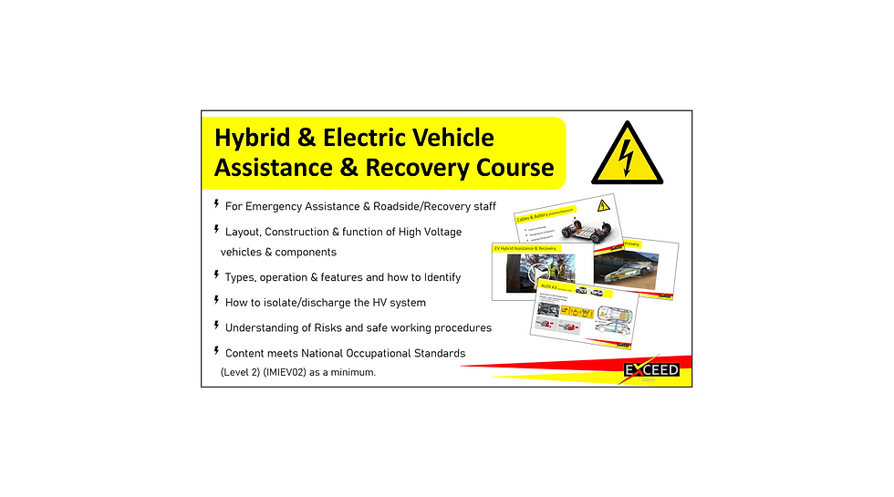 Hybrid EV Assistance Recovery Course Exc