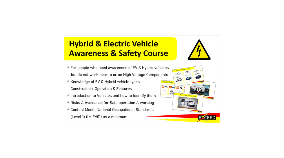 Hybrid EV Awareness Safety Course Exceed
