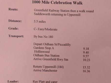 Milemunchers - 1000 Mile Celebration Walk - Saturday 9th March