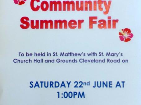 St Matthews Church Fair, Sat 22 June