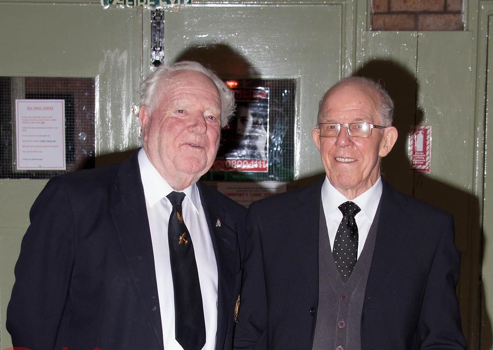 Frank Smeeton (left) with Ken Martin