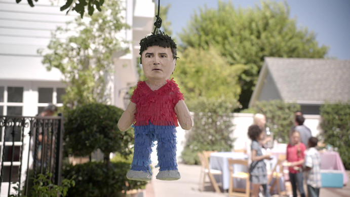 """Don't Anger the Football God"" Pinata"