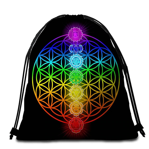 Chakra Drawstring Backpack