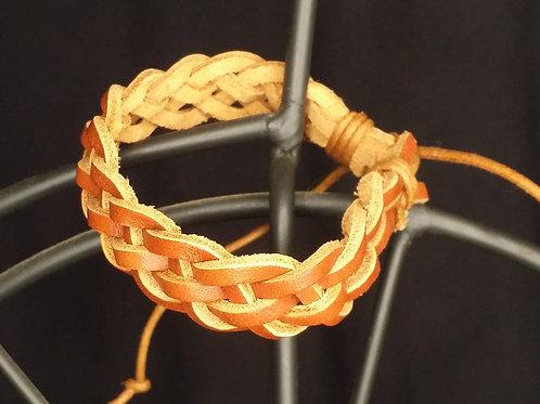 Adjustable Braided Leather Bracelet