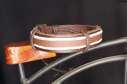 Adjustable Layered Leather Bracelet