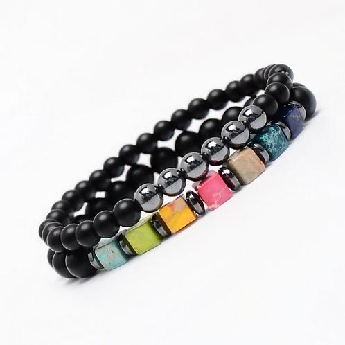 Natural Stone Bracelet Set