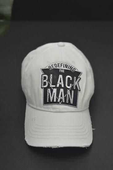 Distressed Dad Hat (White)